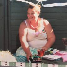 17 years old, morbidly obese and not as happy as the fake smile suggests. ©Sarah Woodside